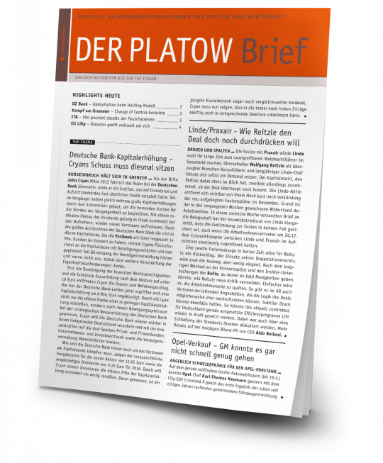 DER PLATOW Brief